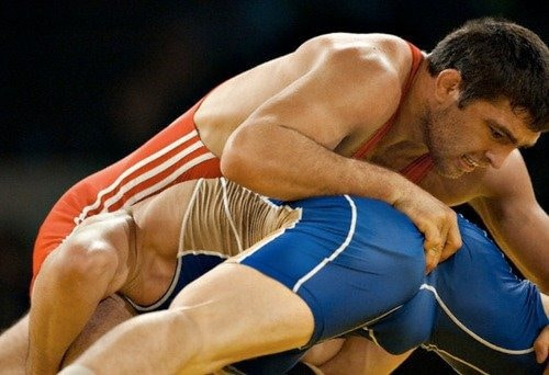 gay athletes wrestling