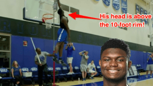 Zion Williamson vertical jump